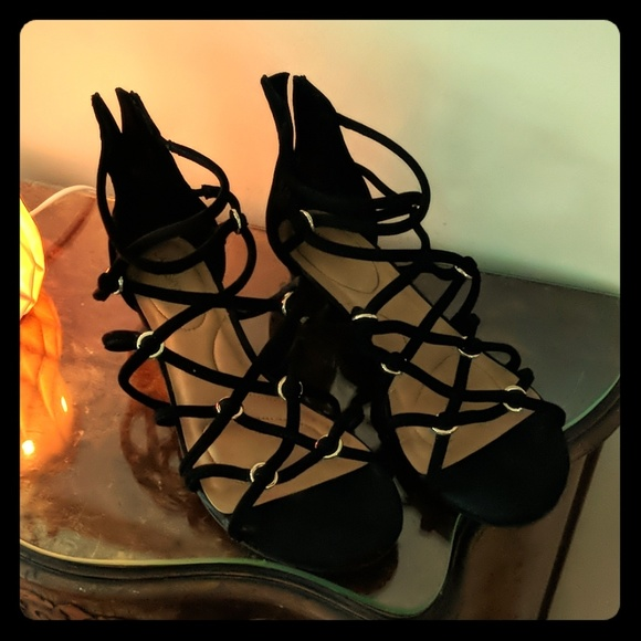 Lane Bryant Shoes - Black strappy sandals